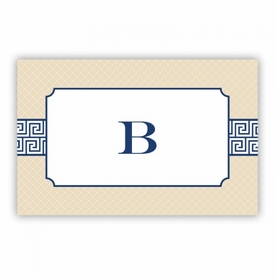 Greek Key Band Navy Disposable Placemat
