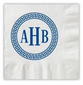 Greek Monogram Napkins