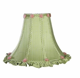 green check ruffled edge shade