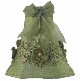 green floral bouquet chandelier shade