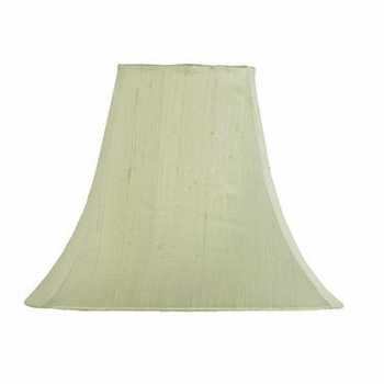 green lamp shade-white sash