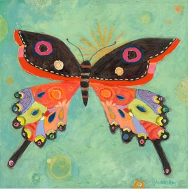 green peace butterfly wall art