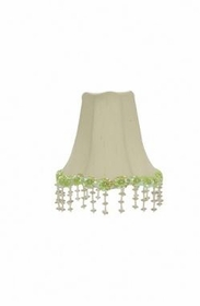green pearl flower chandelier shade