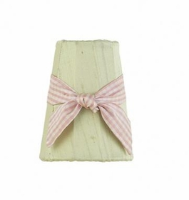 green sconce shade-pink check sash
