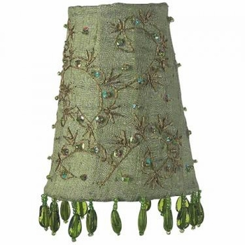 green starburst sconce shade