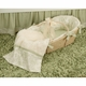 green toile moses basket - unavailable
