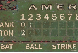 green vintage scoreboard baseball wall art - unavailable