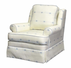 greenwich swivel chair (blue /creme)