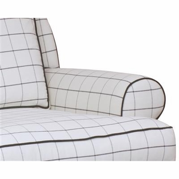 greenwich swivel chair (navy/white plaid)