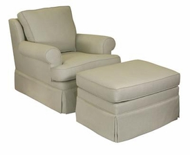 greenwich swivel glider and ottoman