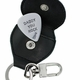guitar pick with leather key chain
