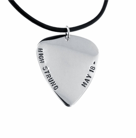 guitar pick with necklace