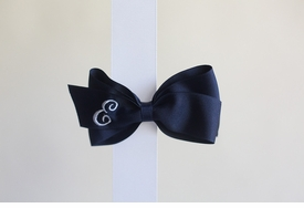 hairbow with monogram