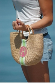 half moon basket handbag