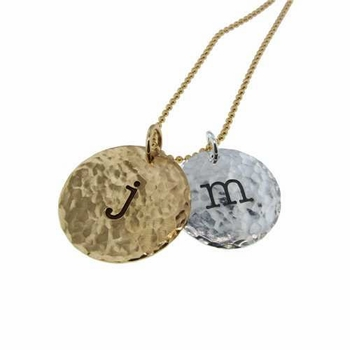 hammered coin charm necklace