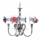 hampton chandelier - white shades, bows and rose magnets