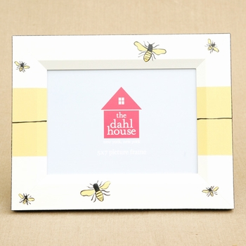 hand painted bee picture frame