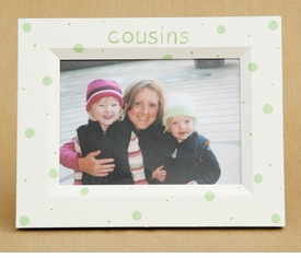 hand painted dotted cousins frame