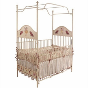 hand painted fairies crib 41582