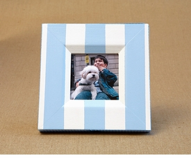 hand painted frame - nantucket stripe