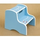hand painted kids step stool-anchor (babyblue/white)