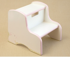 hand painted kids step stool - hippity hop