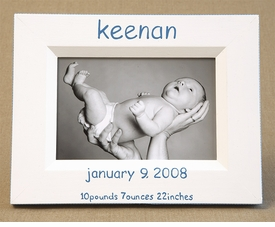 hand painted picture frame - birthdate