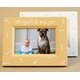 hand painted picture frame - bones