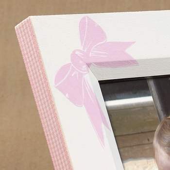 hand painted picture frame - bow