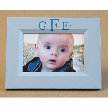 hand painted picture frame - classic monogram