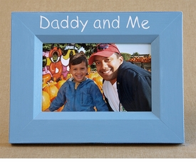 hand painted picture frame - daddy and me