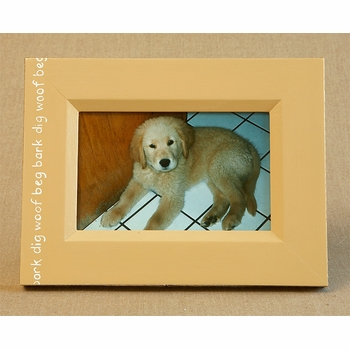hand painted picture frame - dog