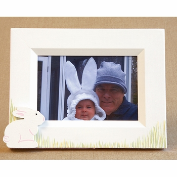 hand painted picture frame - hippity hop
