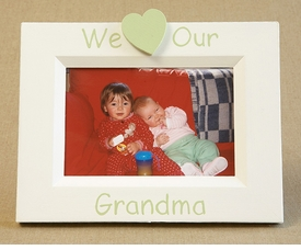 hand painted picture frame - i heart grandma