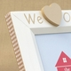 hand painted picture frame - i heart grandpa