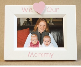 hand painted picture frame - i heart mommy