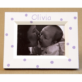 hand painted picture frame - lotty dotty