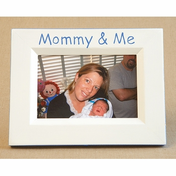 hand painted picture frame - mommy and me