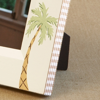 hand painted picture frame - palm tree