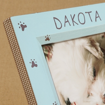 hand painted picture frame - paws