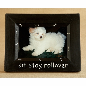hand painted picture frame - pets