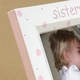 hand painted picture frame - sisters