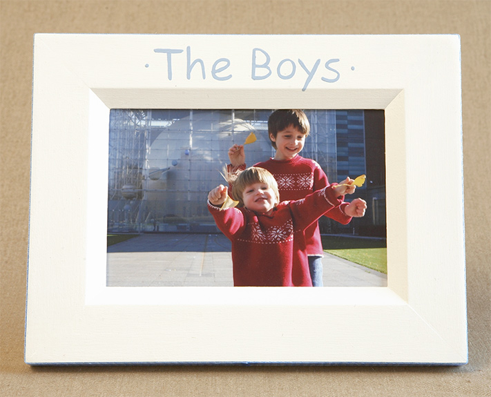 Hand Painted Picture Frame The Boys