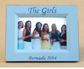 hand painted picture frame - the girls