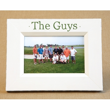 hand painted picture frame - the guys