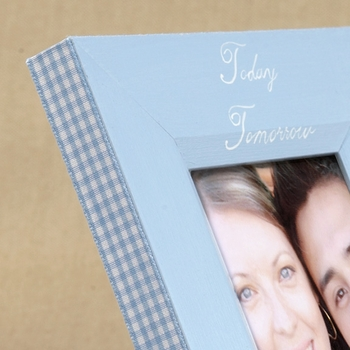 hand painted picture frame -- today, tomorrow, always