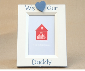 hand painted picture frame - we heart daddy