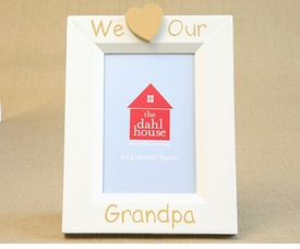 hand painted picture frame - we heart grandpa