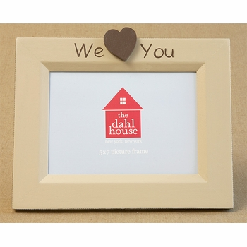 hand painted picture frame - we heart you