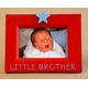 hand painted star picture frame - little brother star